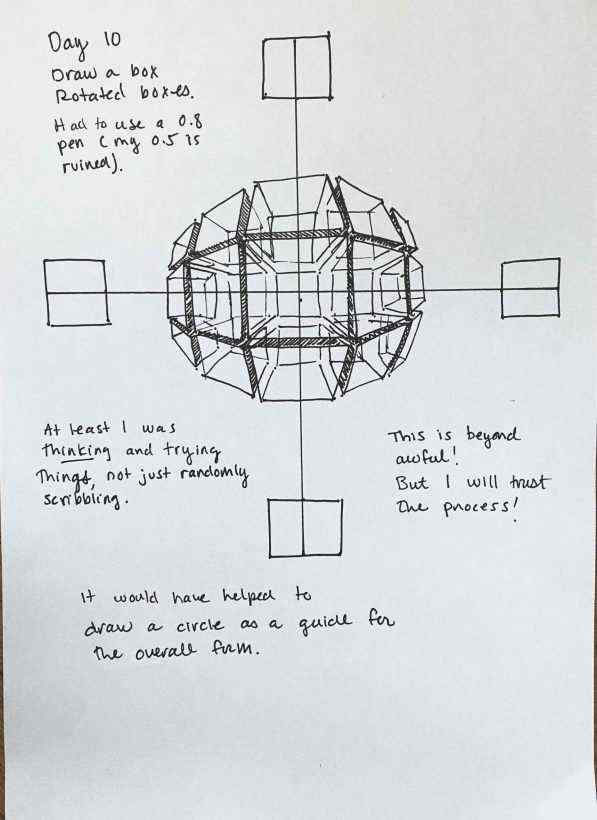Draw a box rotated boxes